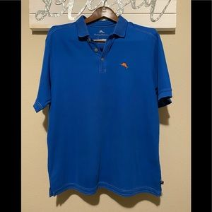*Tommy Bahama - blue polo with orange accent